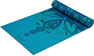 """Gaiam Yoga Mat - Premium 6mm Print Reversible Extra Thick Exercise & Fitness Mat for All Types of Yoga, Pilates & Floor Exercises (68"""" x 24"""" x 6mm Thick)"""