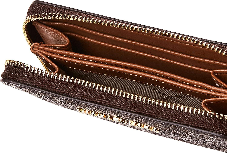 Michael Kors Jet Set Small Zip Around Card Case Brown/Acorn One Size