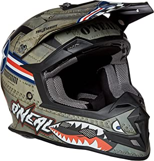 O'Neal Unisex-Adult Off-Road Style 5 SRS Wingman Helmet MTL/WHT L (Metal/White, LARGE)