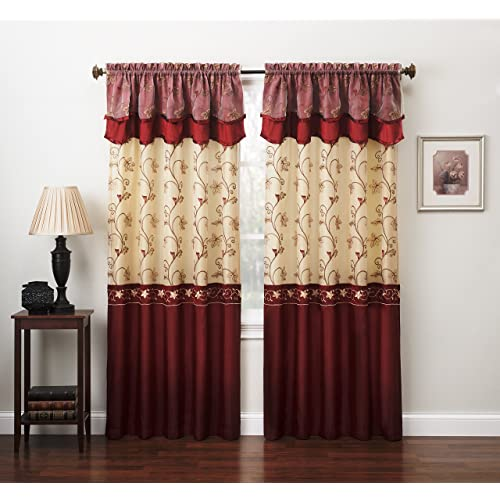 Living Room Curtains Sets with Valance: Amazon.com