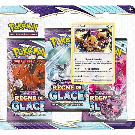 Pokémon Epée et Bouclier-Règne de Glace (EB06) -Pack 3 boosters-Jeu de Cartes à Collectionner-Modèle aléatoire, 3PACK01EB06