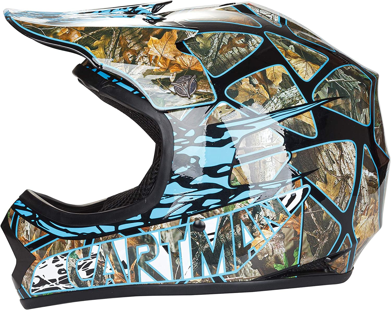 S CARTMAN DOT Youth Motocross Helmet Offroad Street Skull Motorcycle Full Face Child Helmet Dirt Bike Blue