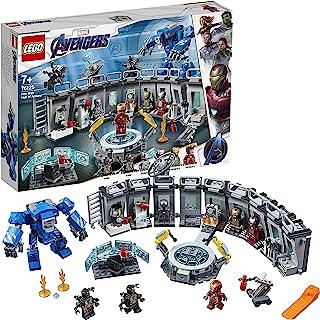 LEGO 76125 Marvel Avengers Iron Man Hall of Armor, Modular Lab with 6 Marvel Universe Minifigures, Superhero Playset