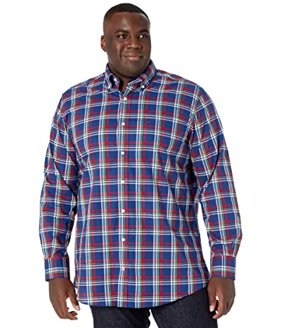 Nautica Big & Tall Big Tall Long Sleeve Woven (Blue Depths) Men