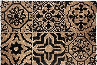Douceur d'Intérieur Déco Tapis Lisbonne Paillasson Rectangle 40 x 60 cm Coco Imprime Lisbonne, Matériel Synthétique, Multi...
