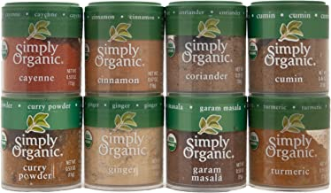 Indian Spices Set From Simply Organic with 8 Spices