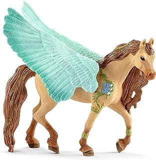 Schleich Decorated Pegasus Stallion Toy, Multicolor