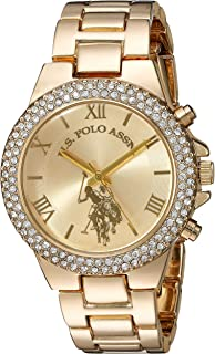 U.S. Polo Assn. Women's Gold-Tone Analog-Quartz Watch with Alloy Strap, 8 (Model: USC40032AZ)