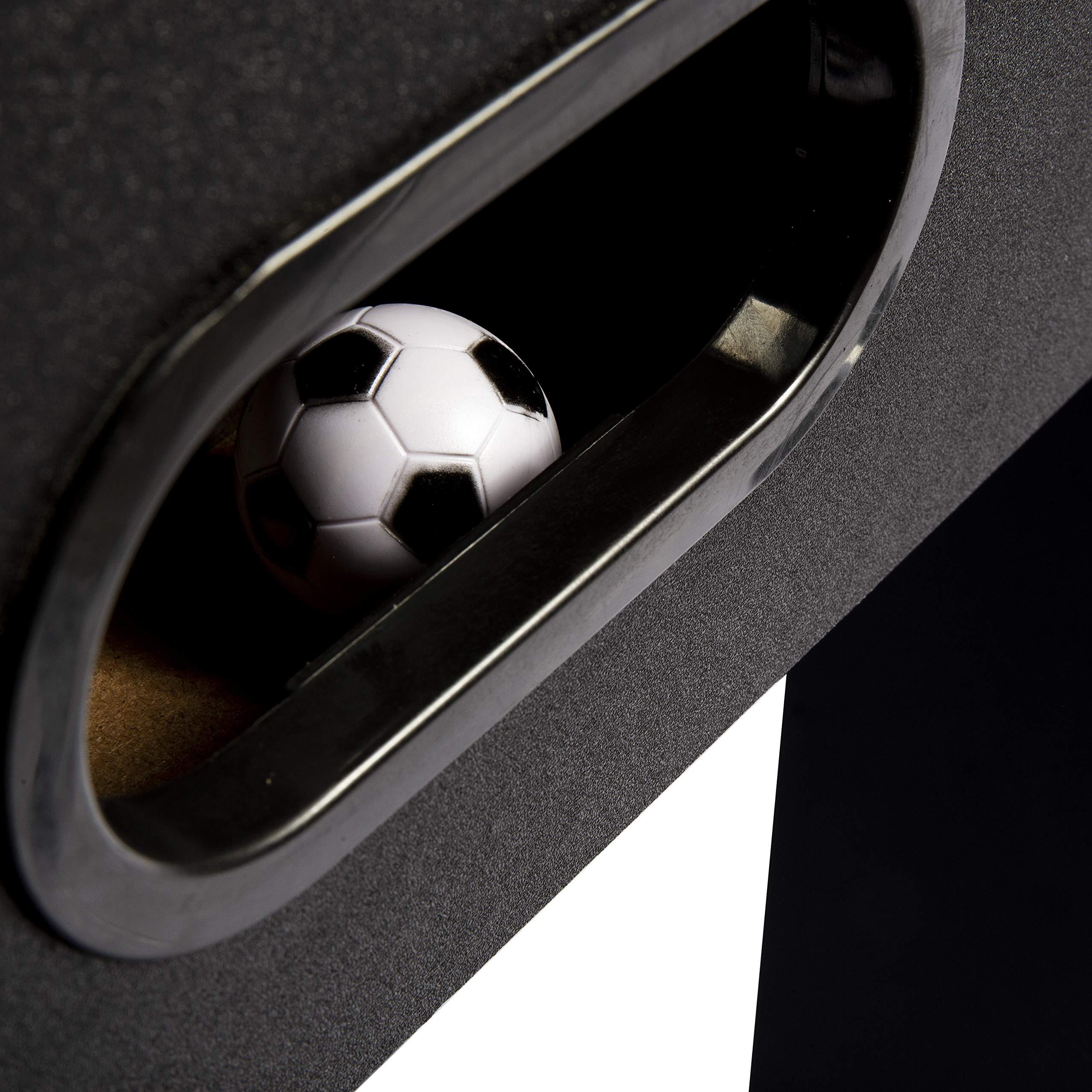 Franklin Sports mesa de futbolín para niños y adultos – Mesa de futbolín de 54 pulgadas para sala de juegos – mesa de fútbol con un auténtico juego de fútbol – Mesa