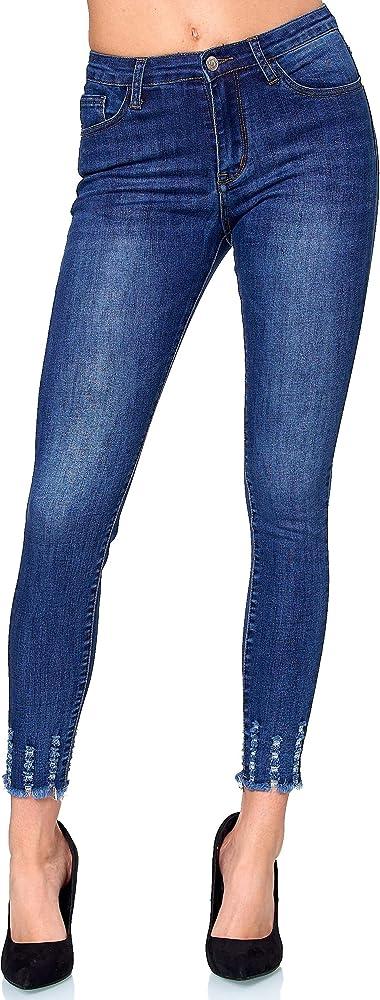 Elara, jeans donna elasticizzati, vita alta, skinny,69% cotone, 28% poliestere, 3% elastan