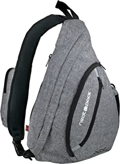 Versatile Canvas Sling Bag/Urban Travel Backpack, Grey | Wear Over Shoulder or Crossbody for Men & Women, by NeatPack