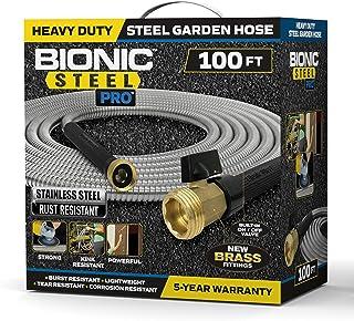 Bionic Steel PRO Garden Hose - 304 Stainless Steel Metal 100 Foot Garden Hose – Heavy Duty Lightweight, Kink-Free, and Str...