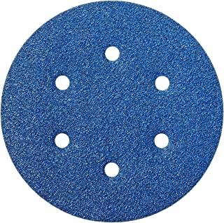 Norton 3X High Performance Hook and Sand Paper Discs with 6 Hole, Ceramic Alumina, 6 in. Diameter, Grit P60 Coarse (Pack of 10)