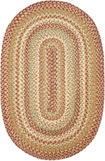 Homespice Decor - 27 x 45 Oval Harvest Jute Braided Rug