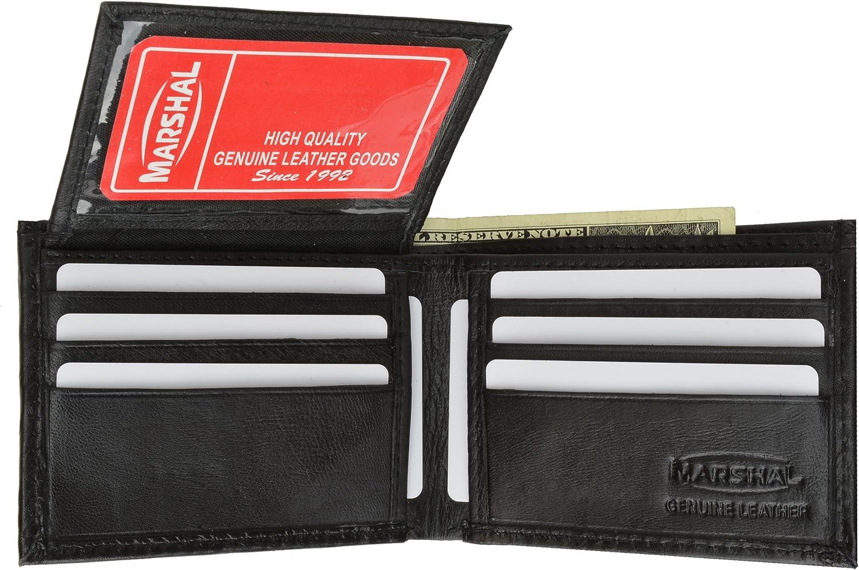New Flip-Up Mens Leather Black Wallet #1153