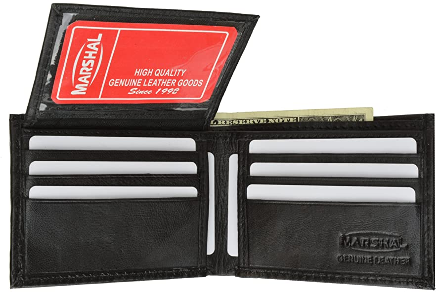 侵略愛国的な賄賂新しいflip-upメンズレザー財布# 1152 Regular ブラック