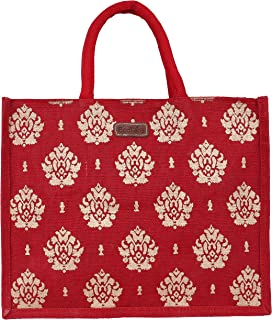 ECOTARA Jute Shopping & Vegetable Bag -Large (Red)