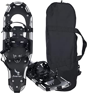 """Zeallar Snow Shoes for Men Women Girls Boys, Aluminum Terrain Snowshoes with Trekking Poles and Carrying Tote Bag, 21""""/25""""..."""