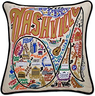 catstudio Nashville Embroidered Decorative Throw Pillow | Beautiful Award Winning Home Decor Artwork | Great for The Living, Family, Bed Rooms