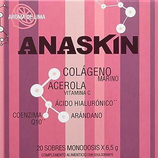 Anaskin Sobres Colágeno. Ácido Hialurónico. Coenzima Q10. Acerola y Arándano 130 g - 20 Unidades