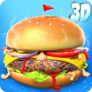 Burger Maker Shop 3D: Kids Lunch Maker Games FREE