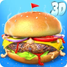 Burger Maker Shop 3D: Kids Lunch Maker Games FREE