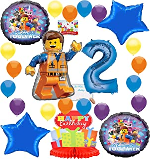 Lego Movie 2 Deluxe Balloon Decoration Bundle for (2nd Birthday)