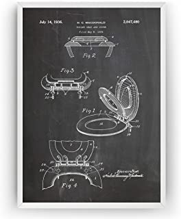 Siège De Toilette 1936 Affiche De Brevet - Toilet Seat Impressions Prints Art Lavabos Toilette Salle De Bains Patent Poste...