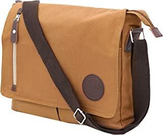 Storite Cotton Canvas Sling Cross Body Travel Office Business Satchel Messenger one Side Shoulder Bag for Men & Women-(33 ...