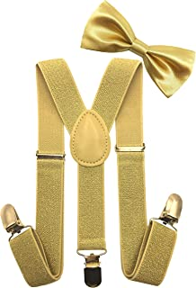 LORELAI Toddler, Kids Suspender and Bow Tie Set | Adjustable and Elastic | for Boys and Girls