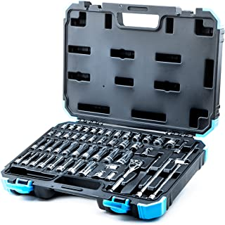 Capri Tools 1/4-Inch Drive Master Socket Set with Ratchets, Adapters and Extensions, 51-Piece