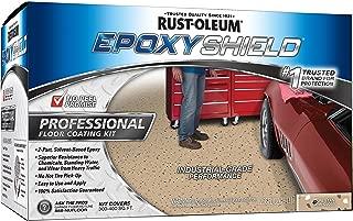 Rust-Oleum 238466 Epoxy Shield Esh-06 Professional Based Floor Coating Kit, Liquid, Dunes Tan, Solvent Like, 263 G/L Voc, Two 1-Gallon containers Sand