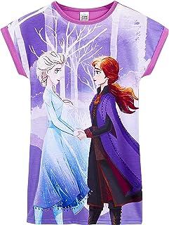 Disney Frozen 2 Pijama Niña, Camison Niña de Las Princesas Anna y Elsa Frozen, Vestidos Niña de Manga Corta, Ropa de Niña ...