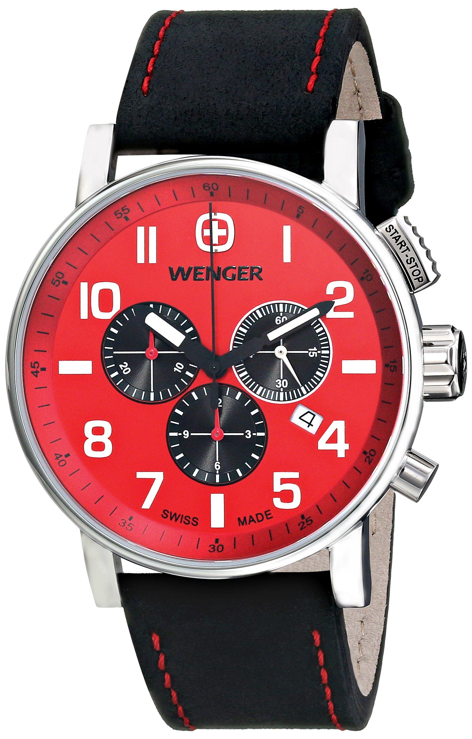 Wenger Men's 01.1243.103 Commando Chrono Analog Display Swiss Quartz Black Watch