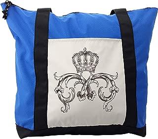 Lunarable Medieval Shoulder Bag, Royal Crown King Queen, Durable with Zipper