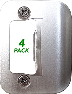 4-Pack Gator Door Latch Restorer - Strike Plate (Satin Nickel)
