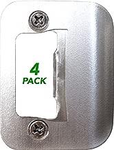 4-Pack Gator Door Latch Restorer - Strike Plate (Satin Nickel)