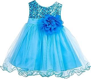 ekidsbridal Wedding Glitter Sequin Tulle Flower Girl Dress Toddler Baby Recital Graduation Easter Pageant Birthday B-011NF