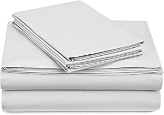 Pinzon 300 Thread Count Percale Cotton Sheet Set - Queen, White