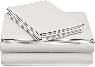 Pinzon 300 Thread Count Percale Cotton Sheet Set - Queen, White