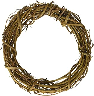 Darice GPV8 6-Piece Grapevine Wreaths, 8-Inch