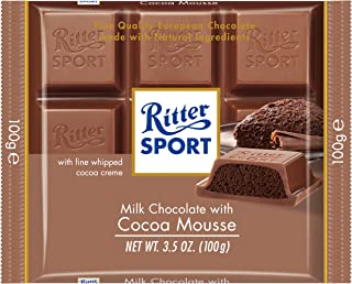 Ritter Sport Milk Chocolate with Cocoa Mousse, 3.5-Ounce (Pack of 11)