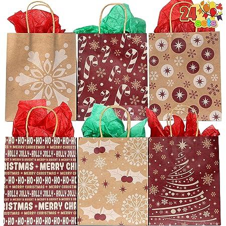 Christmas Printed Paper Gift Present Bag CHRISTMAS STORY Large Horizontal
