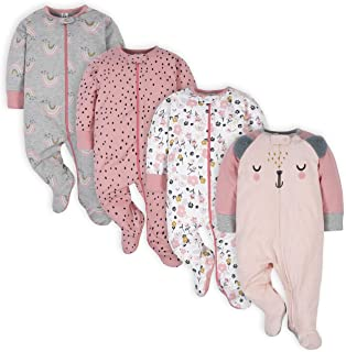 Baby Girls' 4 Pack Sleep 'N Play Footie