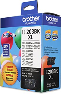Brother Genuine High Yield Black Ink Cartridges, LC2032PKS, Replacement Black Ink Two Pack, Includes 2 Cartridges of Black...