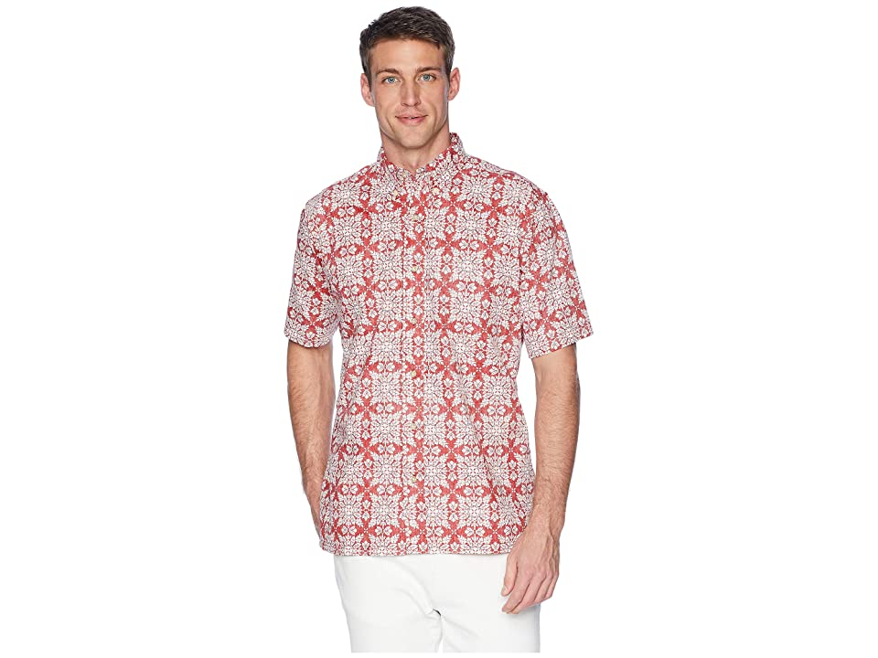 Reyn Spooner Christmas Quilt Classic Fit Aloha Shirt (Red) Men