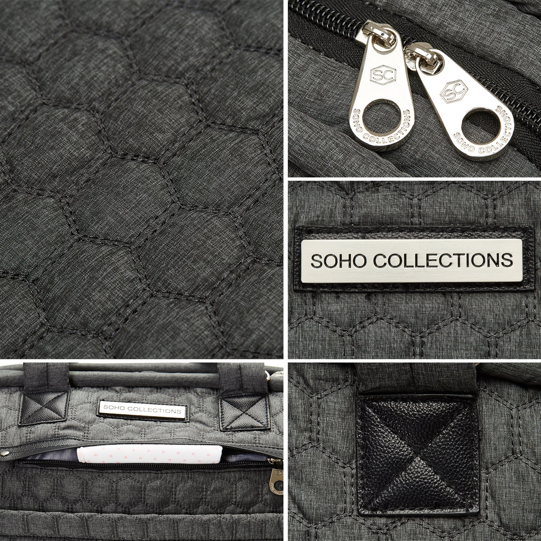 SoHo UnionSquare Diaper Bag Tote 6Pc - ClassicGrey