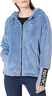 Women's Calvin Logo Tapedrop Shoulder Zip Front Jacket