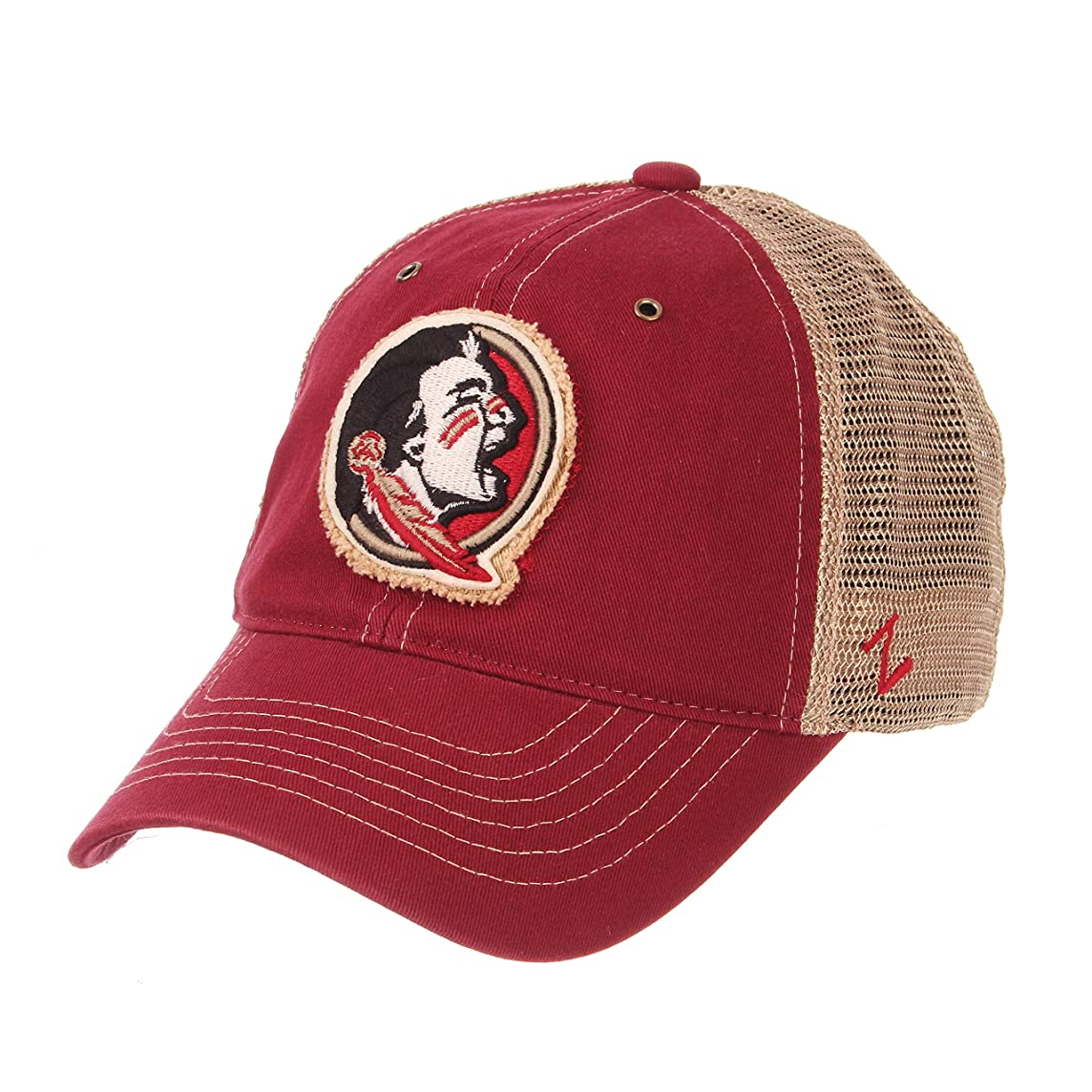 Zephyr Florida State Univeristy FSU Red Seminoles Tatter Mesh Trucker Mens/Boys Best Baseball Hat Cap Size Adjustable