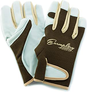Leather Gardening Gloves for Women and Men. Adjustable Fastener and Breathable Spandex Back. Ideal for General Garden Tasks (Extra Small)